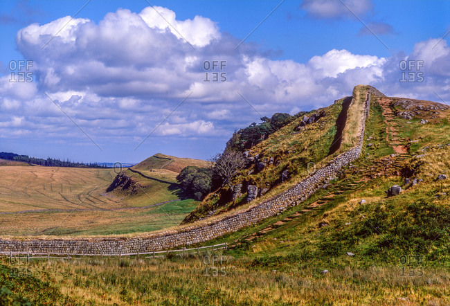 The remains of Hadrian's wall, England