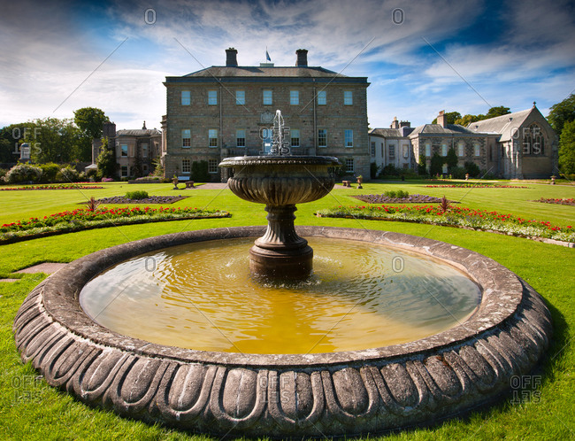 Garden of the Haddo House in Aberdeenshire, Scotland