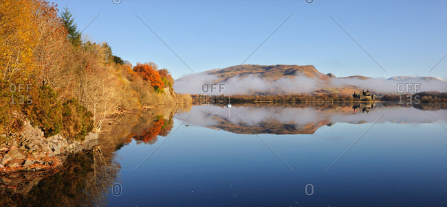Misty scene across Loch Awe, Argyll, Scotland