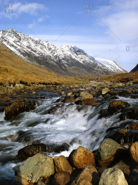 The River Coe, Pass of Glencoe, West Highlands