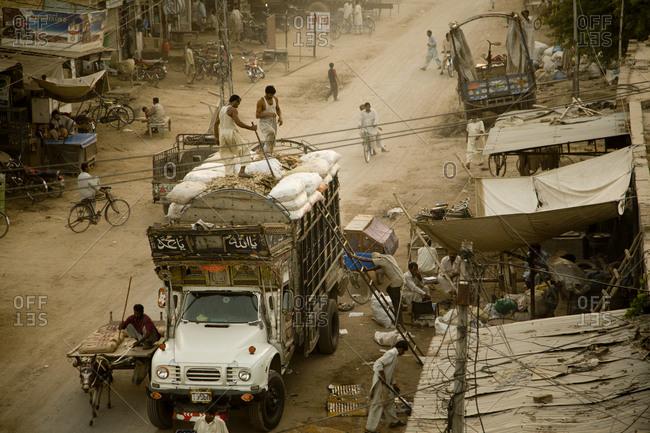 Street scene in central Pakistan