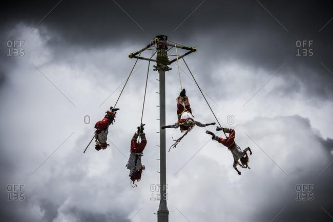 Dance of the Flyers (Danza de los Voladores) in rural Mexico
