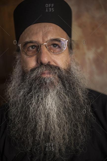Portrait of Orthodox priest, Jerusalem