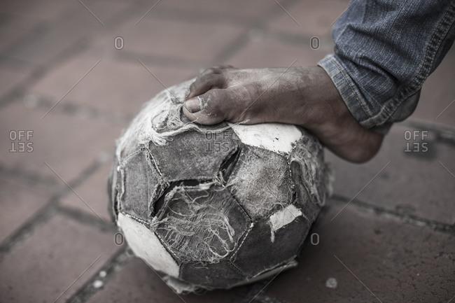 Street soccer in Panama City, Panama