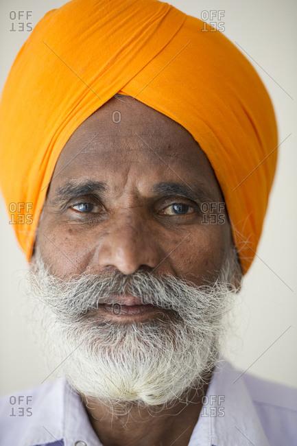 Portrait of a Sikh man, New Delhi, India
