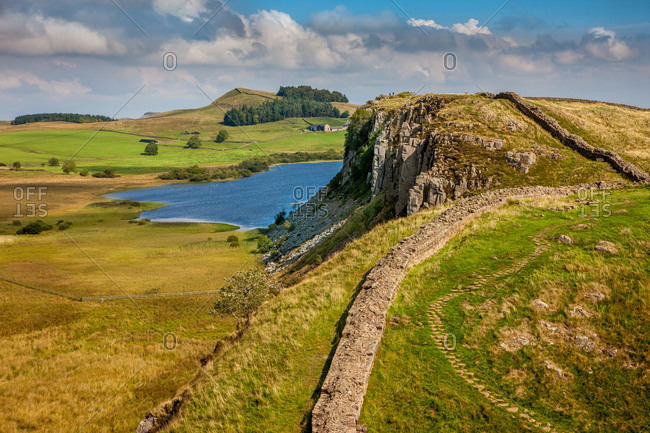The remains of Hadrian's wall