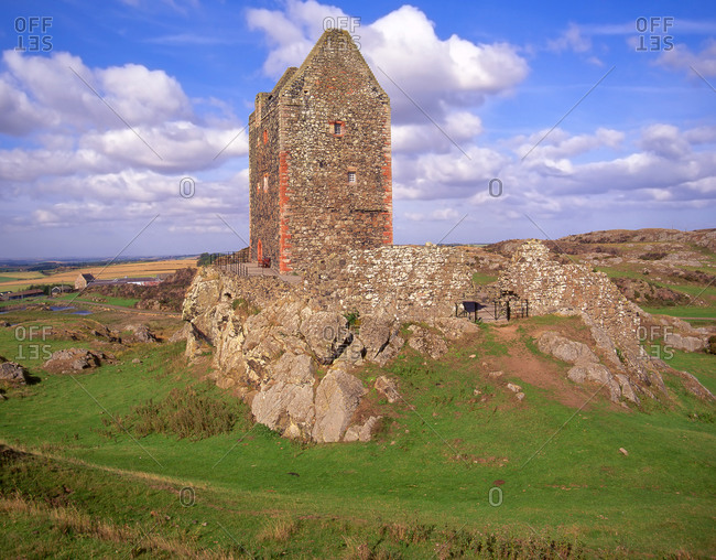 Smailholm Peel Tower atop Lady Hill, Scotland