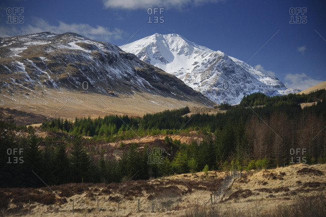 Snow covered Ben Lui, seen from the tyndrum area, West Highlands, Scotland