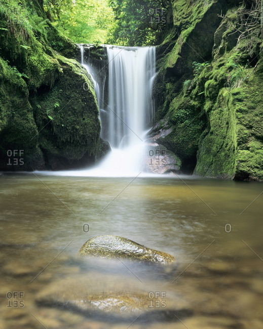 Waterfall Geroldsau, near Baden, Black Forest, Baden Wurttemberg, Germany, Europe