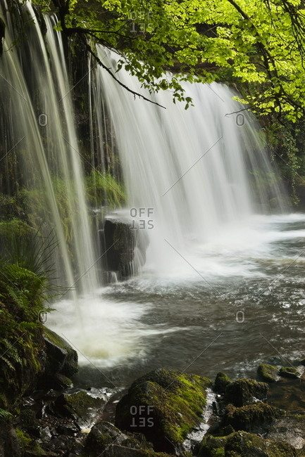 Sqwd Ddwli Waterfall, Brecon Beacons, Wales, United Kingdom, Europe