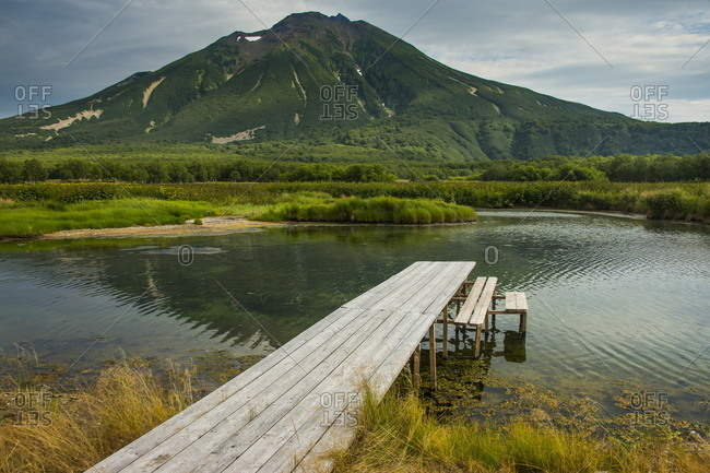 Hot river in the south of Kamchatka, Russia, Eurasia
