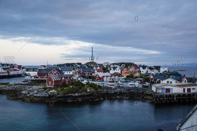 Henningsvaer village, Lofoten Islands, Norway.