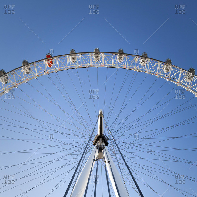 London, England, UK - November 10, 2013: The London Eye on a bright sunny day