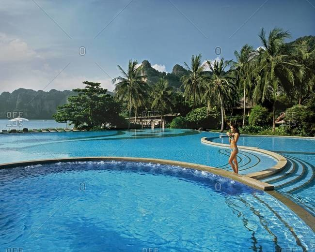 Pool, Rayavadee Resort, Krabi, Thailand, Southeast Asia, Asia