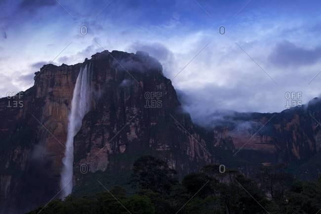 Angel Falls at dawn, Canaima National Park, Guayana, Venezuela,