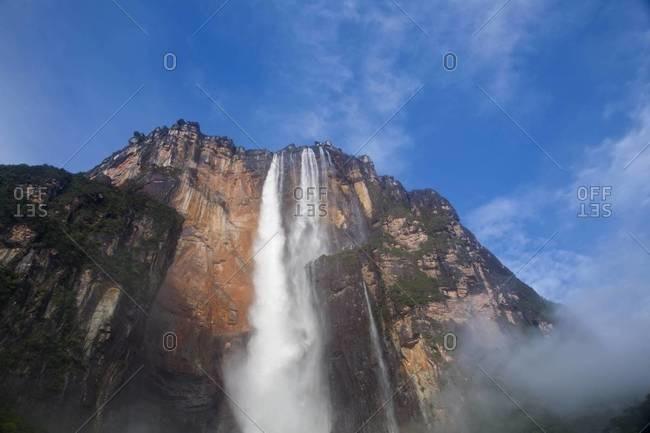 View of Angel Falls from Mirador Laime, Canaima National Park, Guayana, Venezuela,