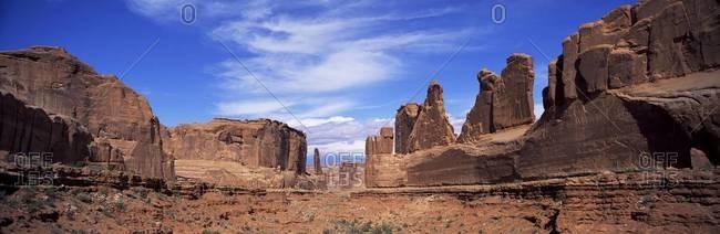 Park Avenue, Arches National Park, Moab, Utah, United States of America (U.S.A.), North America