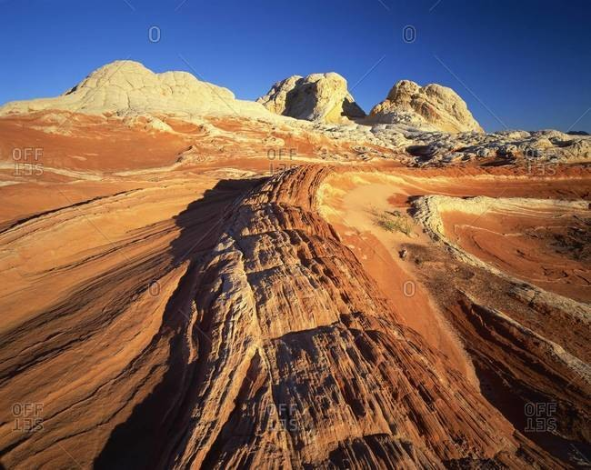 Sandstone formations, White Pockets, Paria Plateau, Northern Arizona, United States of America, North America