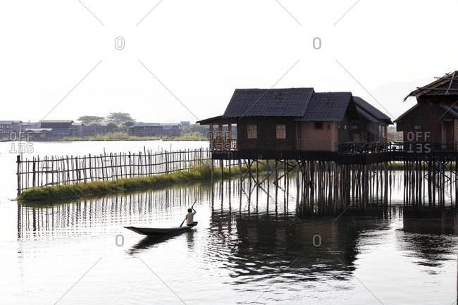 Golden Island Cottages, tourist accommodation on Inle Lake, Nampan Village, Shan State, Myanmar (Burma), Asia