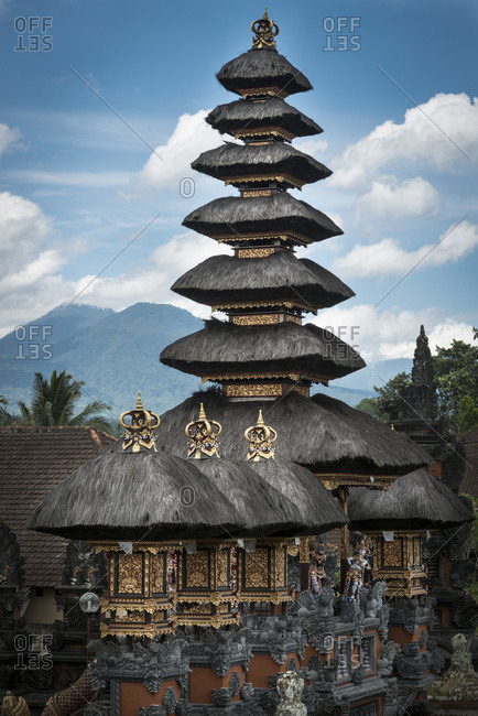 A temple in a small village near the mountains, Bali, Indonesia