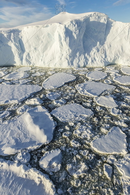 Sea ice mixed with brash ice near Pleneau Island, western side of the Antarctic Peninsula, Southern Ocean, Polar Regions