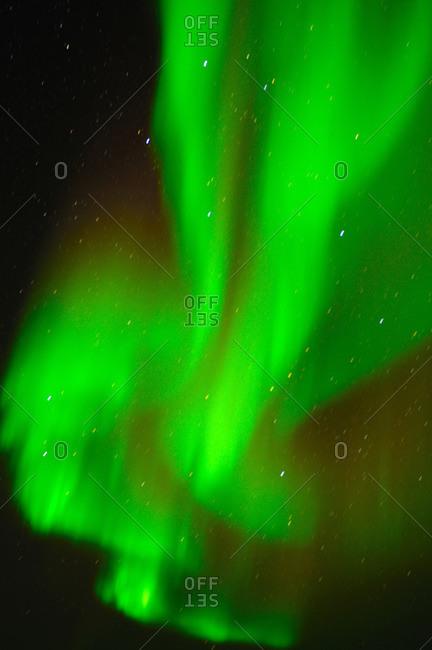 Northern Lights (Aurora borealis), Churchill, Hudson Bay, Manitoba, Canada, North America