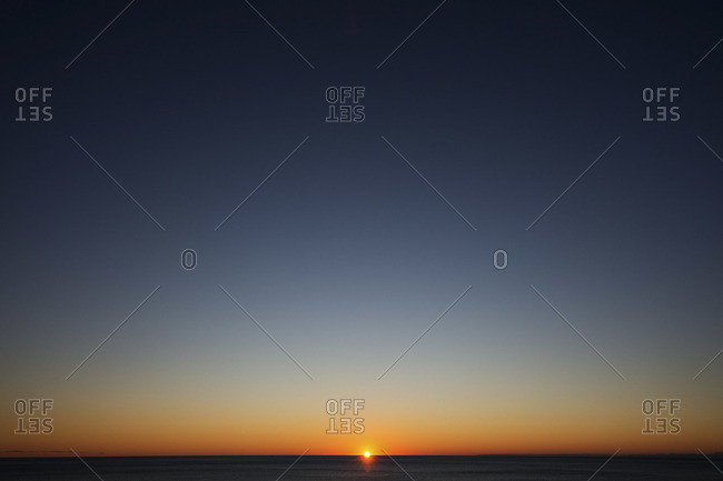 Scenic sunset seascape