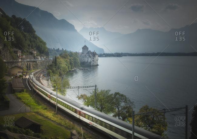 Lake Geneva, Montreux, Canton Vaud, Switzerland