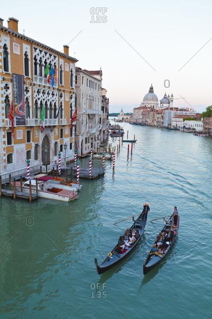 Grand Canal, Venice, Veneto, Italy - May 9, 2011.