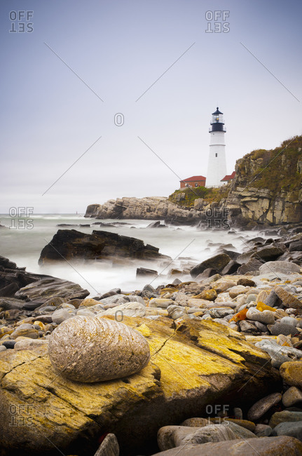 Portland Head Lighthouse, Portland, Maine,New England, United States of America, North America