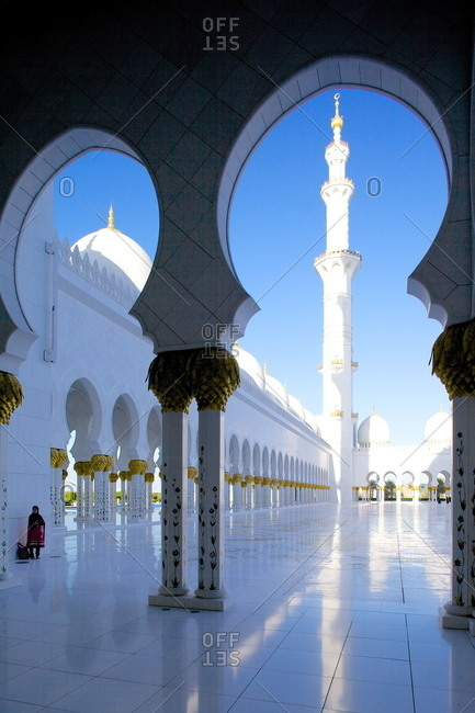 Dubai, United Arab Emirates, Middle East - December 3, 2012: Sheikh Zayed Bin Sultan Al Nahyan Mosque, Abu Dhabi, United Arab Emirates, Middle East