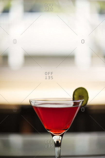 Close up of a Cosmopolitan cocktail