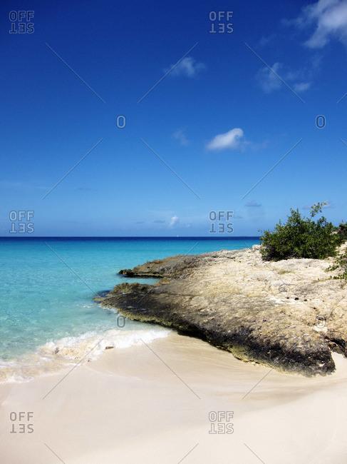 Calm ocean under a blue sky