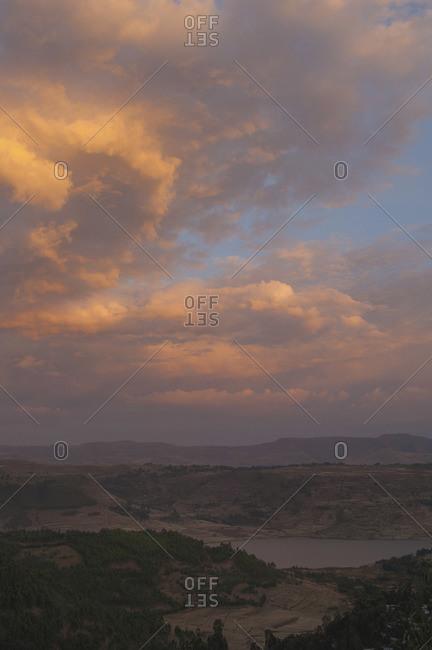 Picturesque landscape in Ethiopia