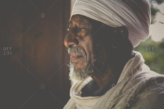 Gonder, Ethiopia - January 18, 2008: Portrait of an Amharic man