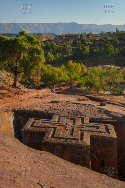 One of the Rock-Hewn Churches of Lalibela, Ethiopia