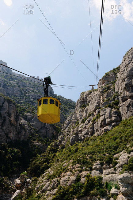 Low angle view of a mountain tram