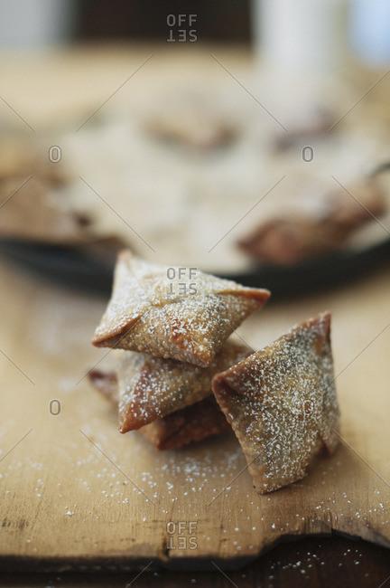 Sweet ravioli filled with hazelnut chocolate cream