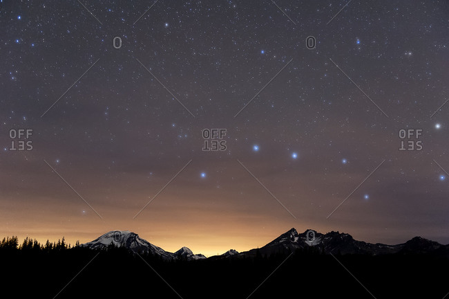 Big Dipper over Three Sisters