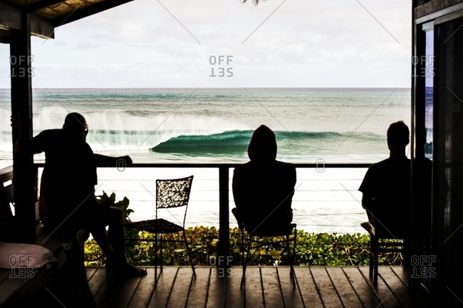 Watching pipeline from the porch