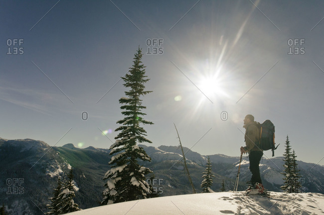 Hors piste skiing