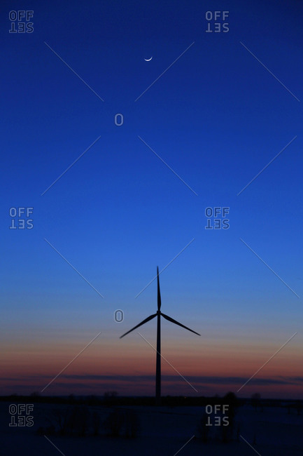 Windmill at twilight