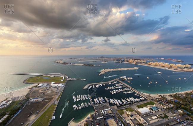 Palm Jumeirah and port in Dubai