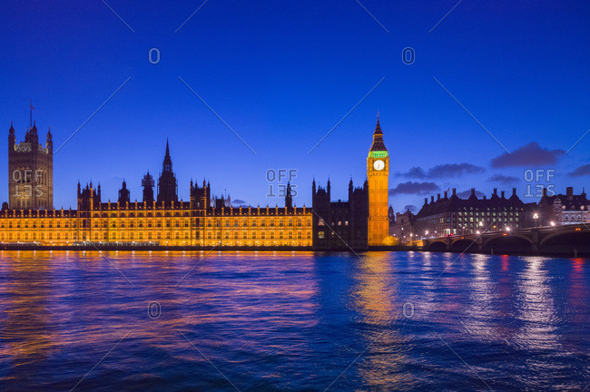 Parliament building and Big Ben at night, London, United Kingdom