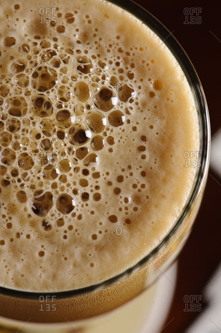 Close up of Irish dry stout