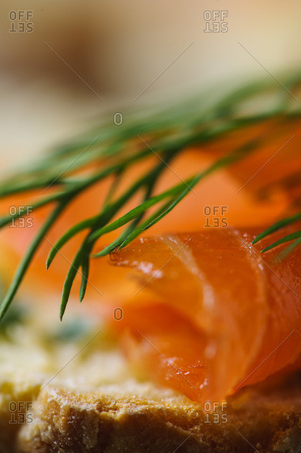 Irish soda bread, chive butter and smoked salmon