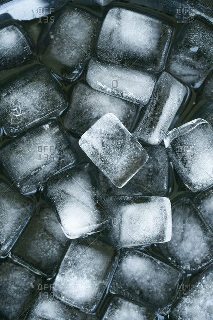 Ice cubes, close-up