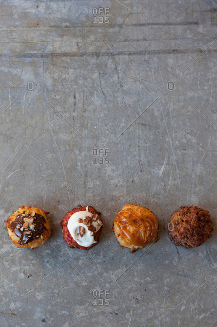 Four variations of coconut macaroons