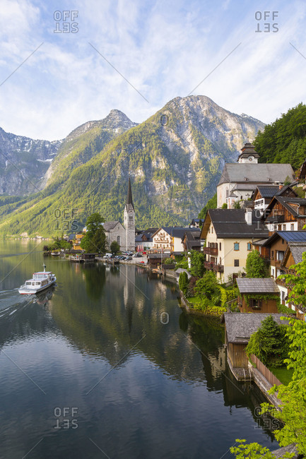Town of Hallstatt on Lake Hallstatt