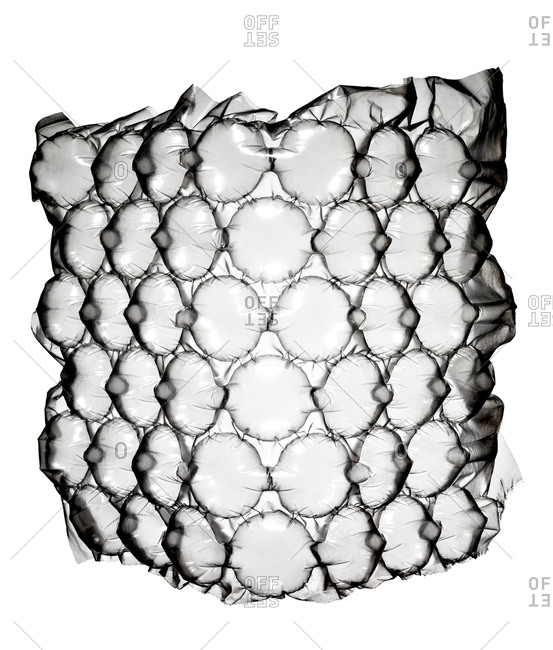 Bubble wrap in black and white